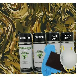 Hydrographic Film Water Transfer Hydro Dip Kit Activator Army Camo Slick Kit
