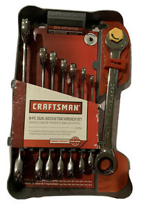 Craftsman 8 Pc Metric Dual Ratcheting Wrench Set 14756 New In Package