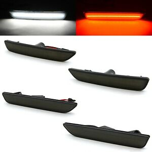 Smoked Lens Front Rear Side Led Marker Lights Set For 2010 2014 Ford Mustang