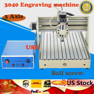 400w Usb 3axis Cnc 3040 Router Engraver Wood Drilling Milling Machine