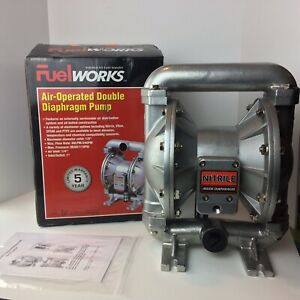 Fuelworks Air operated Double Diaphragm Fuel Transfer Pump 24 Gpm 90 Lpm New