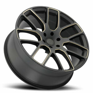 4 new 22 Black Rhino Kunene Wheels 22x9 5 6x5 5 6x139 7 10 Black Tint Rims