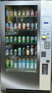 Royal Vendors Glass Front Bottle can Vending Machine With Credit Card Reader