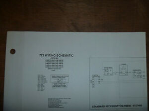 Bobcat 773 Skid Steer Electrical Wiring Diagram Schematic Manual Sn 518012001