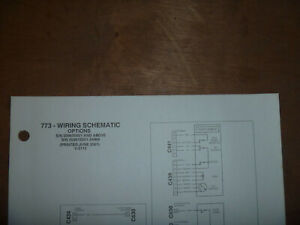 Bobcat 773 Skid Steer Electrical Wiring Diagram Schematic Manual Sn 509635001 Up
