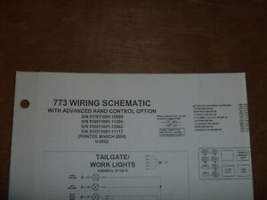 Bobcat 773 Skid Steer Electrical Wiring Diagram Schematic Manual 517611001 15809