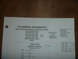 Bobcat 773 Skid Steer Electrical Wiring Diagram Schematic Manual 517615810 17999