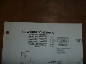 Bobcat 773 Skid Steer Electrical Wiring Diagram Schematic Manual 500 K 11001 Up