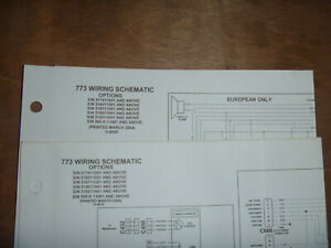Bobcat 773 Skid Steer Electrical Wiring Diagram Schematic Manual Sn 519211001 Up