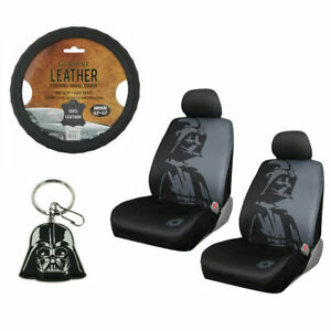 New 6pc Star Wars Darth Vader Car Seat Covers Steering Wheel Cover