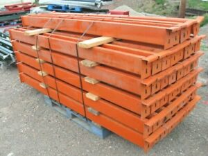 Lot Of 45 Pallet Rack Beams 96 X 5 5 For Aisle Support Or Mezzanine Construct