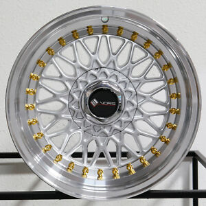 4 new 16 Vors Vr3 Wheels 16x8 4x100 4x114 3 20 Silver Rims 73 1
