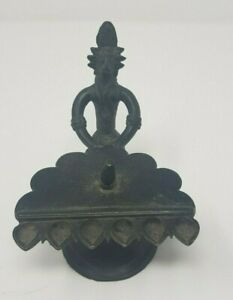 Vintage Old Brass Handcrafted Figure Oil Lamp Arti Decorative Nh5298
