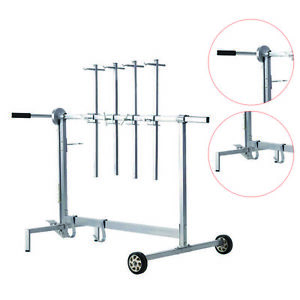 Auto Body Paint Stand Rack 7 Locking Positions 90 Rotating Paint Rack Paint