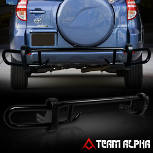 Fits 2006 2012 Toyota Rav4 Black Mild Steel Tubular Rear Bumper Guard protector