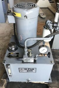 Parker H pac Fluidpower Systems Model H1 3 7l3p0 5hp 10 Gal Max Press 1850 Psi