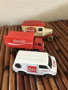 Vintage Coca Cola Toy Vehicles Assorted Lot of 3