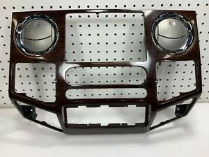 2008 2009 2010 F250 F350 Super Duty Lariat Oem Wood Grain Dash Trim Bezel Oem