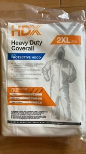 5 Pcs Hdx Heavy Duty Coverall With Protective Hood 2xl