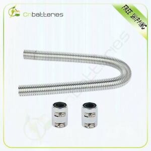 36 Inch Stainless Steel Radiator Flexible Coolant Water Hose Kit With Caps