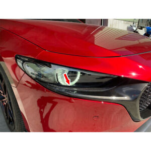 Carbon Fiber Front Light Eyelid Lamp Trim For Mazda 3 4th 5dr Hatchback 2019