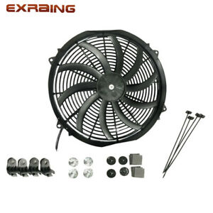 16 Slim Electric Radiator Fan Pusher Puller 120w High Power 3200cfm 2100rpm