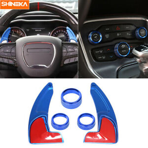 Steering Wheel Shift Paddle ac Switch Trim Ring For Charger challenger 2015 2019