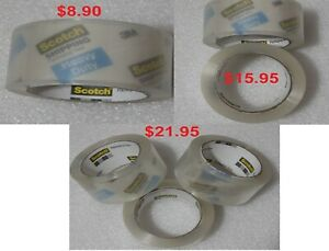 Scotch 3m Heavy Duty Shipping Packaging Tape 1 88 In X 54 6 Yd 1 2 Or 3 Roll