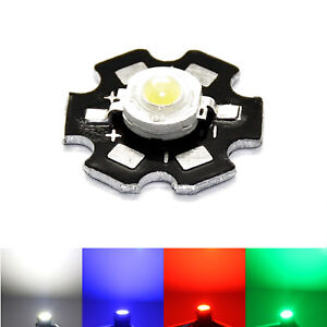 Led Heat Sink Aluminium Base Plate Pcb Board White Blue Red Green Star Platine