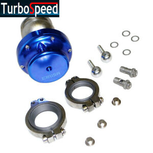 Uniersal 38mm V band14psi Wastegate Mazda Toyota Sicion Dodge Acura Blue