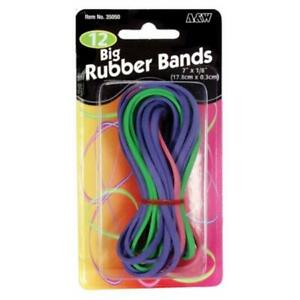 12 Pack 7 In X 13 In Big Rubber Bands