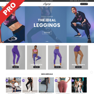 Leggings Store Ready to go Dropshipping Website High Potential Business