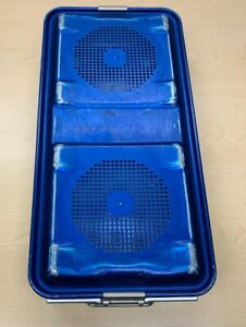 Aesculap Jn440 Surgical Instrument Sterilizing Tray Case With Jk486 Lid