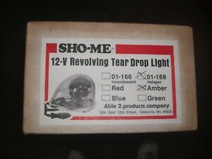 Sho me H 1166 Tear Drop Light New In Box Assorted