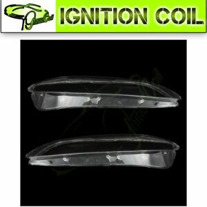Headlight Cover White Front For 2003 2004 2005 2006 2007 2008 Mazda 6 2 Pcs