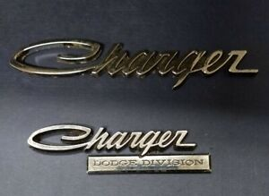 2 Charger Dodge Division Emblems Used