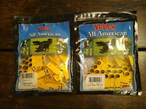 2 Bags Y tex 2 piece Ear Tag System Livestock Yellow Numbered 1 25 5312 001