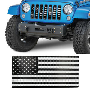 Front Mesh Grille Insert With Usa American Flag For 2007 2018 Jeep Wrangler Jk