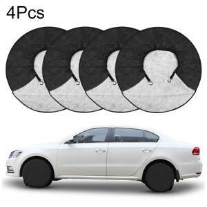 4pcs Tire Covers Aluminum Film Tire Protector For Car Rv Trailer Wheel 36 39