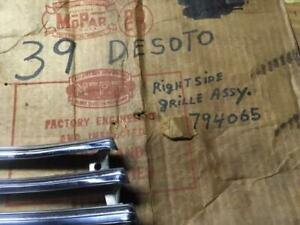 1939 Desoto Nos Right Lower Section Grill Insert