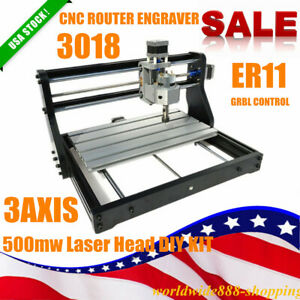 Cnc 3018 Pro Diy Router 2in1 Laser Engraving Milling Machine Grbl Control 500mw