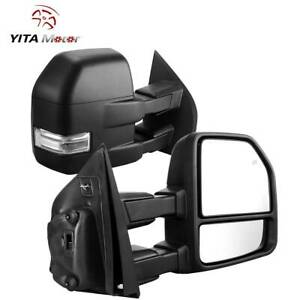 Yitamotor Towing Mirrors For 2015 2018 Ford F150 Power Heated Turn Signal 8 Pin