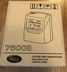 Lathem Totaling Time Recorder Card Punch Stamp 100 Employee 7500e