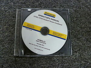 New Holland H7450 H7550 Discbine Mower Conditioner Owner Operator Manual Cd