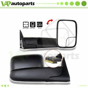 Tow For 94 97 Dodge Ram 1500 2500 3500 Power Side View Mirrors W Brackets Pair