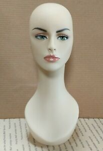 Less Than Perfect 318 b Female Mannequin Head Display Form With Pierced Ears