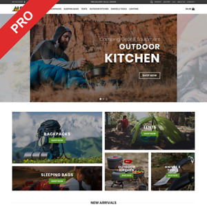 Camping Gear Dropshipping Store Automated Modern Business Website For Sale
