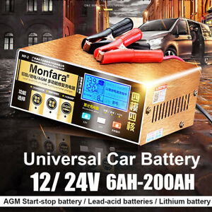 Intelligent Automobile 12 24v Pulse Repair Battery Charger Car Motorcycle