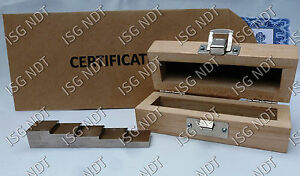 5 step Certified 304 Stainless Steel Calibration Block Ultrasonic Thickness