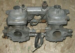 Sunbeam Alpine V Stromberg Zenith Cd150 Carburetors Carb Pr Manifold 1725 Orig